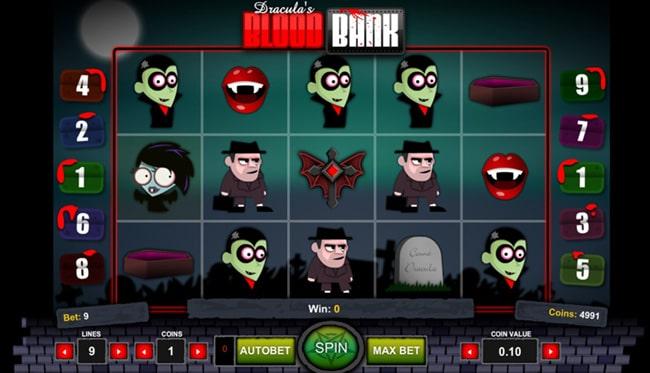 Blood Bank, игровой автомат в Pin Up casino